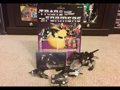 TRANSFORMERS G1 DECEPTICON RAVAGE UNBOXING TOY REVIEW COMPARISON