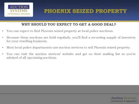 Creating Reselling Opportunities from Phoenix Seized Property