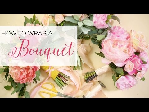 How To Wrap A Bouquet