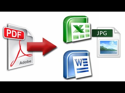 How To Convert pdf file to word, Excel, powerpoint, jpg format | TAMIL