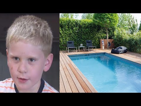 This Little Boy Can't Swim, But He Dove Into A Pool For The Most Incredible Reason