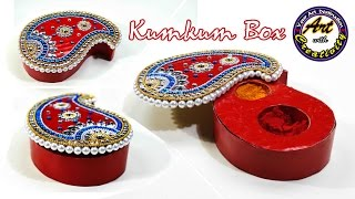 Best out of waste | Kumkum Box | DIY | Art with Creativity 194