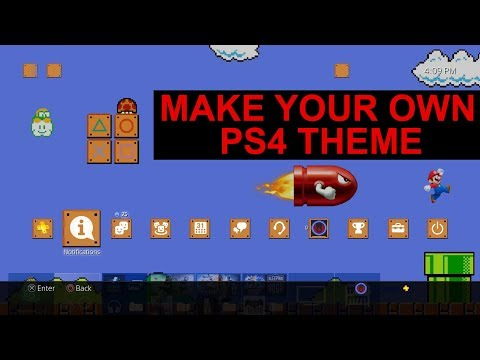 Make your own PS4 Theme ...kinda