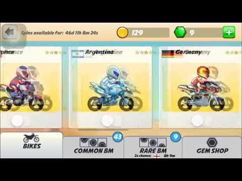 Bike Race World Tour Spin With 25 gems