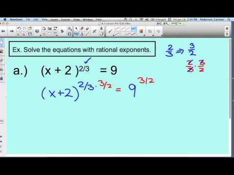 Solving Equations with Rational Exponents