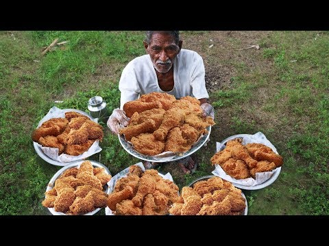 KFC Style Fried Chicken | Crispy Spicy Fried Chicken Cooking by our grandpa for Orphan kids