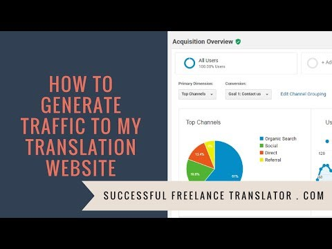 How to generate traffic to my translation website