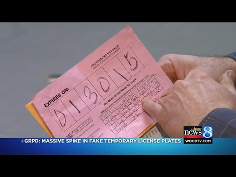 GRPD: Large spike in fake temporary license plates