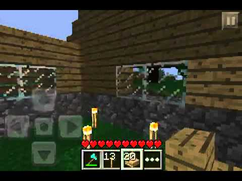 Minecraft PE Lets play Episode 17 - Lil cabin in the woods
