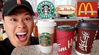 FAST FOOD COFFEE TASTE TEST!!!