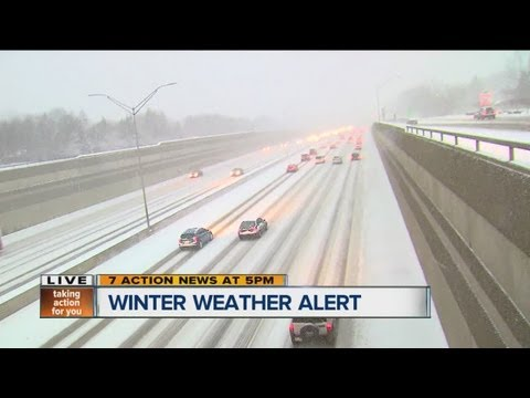 Winter weather road conditions