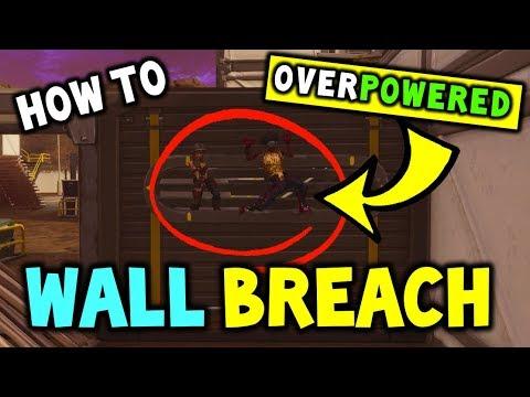FORTNITE WALLBREACH - How to Walk Through Walls In Fortnite Season 4 - OVERPOWERED! (NEW GLITCH)