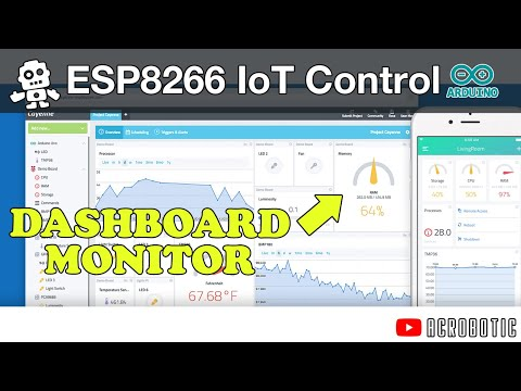 ESP8266 Remote Monitoring and Control With MQTT Using Arduino and Cayenne (Mac and Windows)