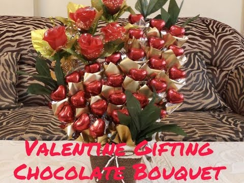 How to make valentine chocolate bouquet | Valentine gifting | Red bouquet
