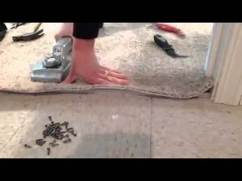 How to transition carpet to tile