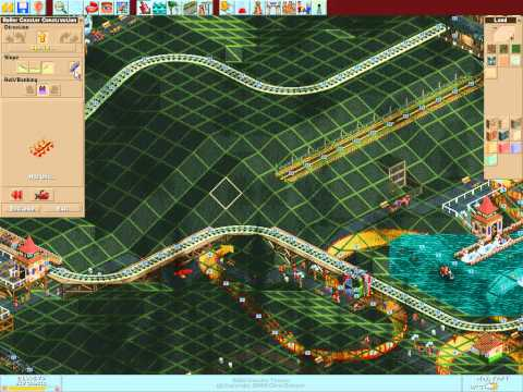 Let's play Rollercoaster Tycoon #52 (Katie's World: solution to rain  = build underground)