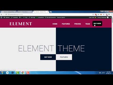 How to add a button in the menu  -  Element Theme, Elementor