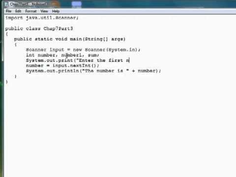 Java Programming - Scanner To Input Numbers Tutorial