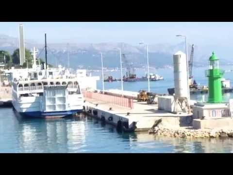 Leaving Split from the ferry to Hvar , Croatia  (2014.09.)
