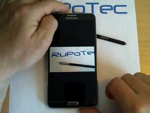 Автоматический поворот экрана на смартфоне Samsung Galaxy Note 3, модель SM-N9005