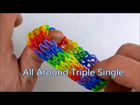 How to make the All Around Triple Single bracelet on the Rainbow Loom