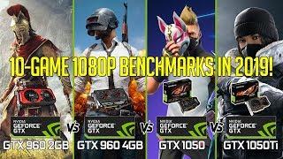 GTX 1050ti vs 1050 vs 960 4GB vs 960 2GB in 10 GAMES 1080p!