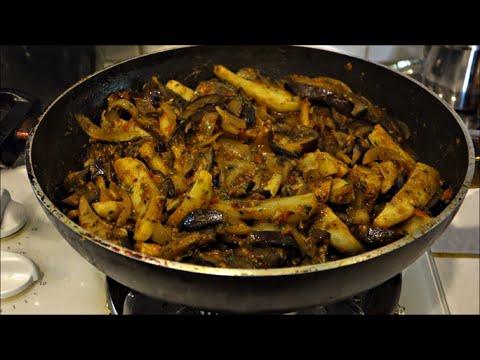 Kadai Eggplant and Potatoes | Brinjal Aloo Subzi | Aloo Baingan Sabzi