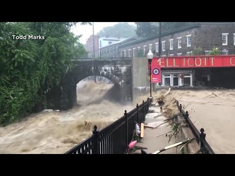 Elderly Woman Taken to Higher Ground as Flash Floods Hit Ellicott City, Maryland