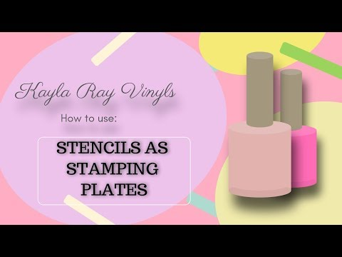 Using nail vinyl stencils as nail stamping plates featuring Kayla Ray Vinyls. nail art, DIY nails