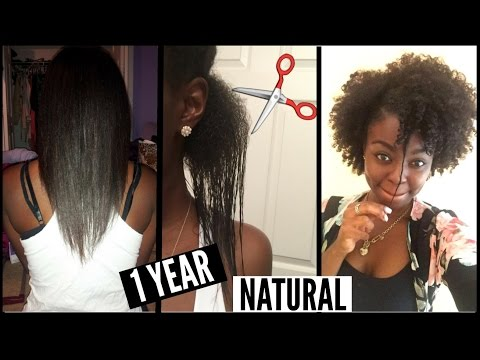 1 YEAR Natural Hair Journey | RELAXED to NATURAL