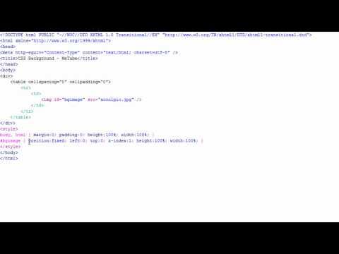 Coding Tutorial: CSS Auto-Resizing Background Image