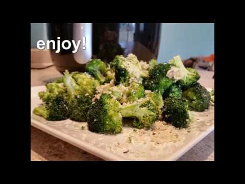 air fryer broccoli, panko, and parmesan recipes