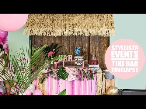 EVENT TIMELAPSE: HOW TO BUILD A TIKI BAR