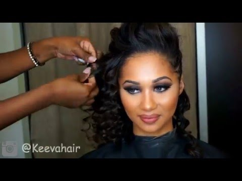 Sexy Bouncy Wand Curls on Relaxed Hair