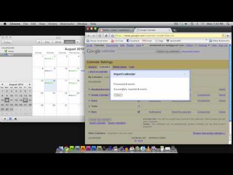 Syncing iCal with Google Calendar