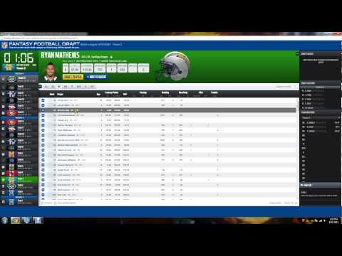 ESPN NFL Fantasy Football 2013 Mock Draft Tips