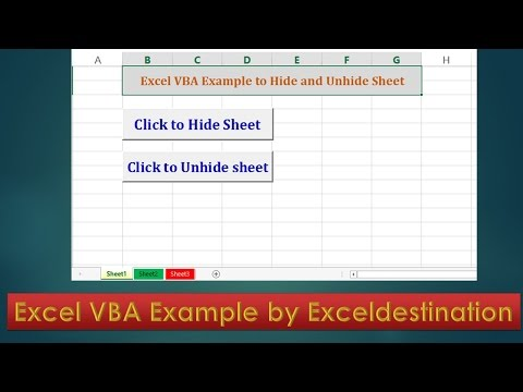 VBA code to hide and unhide sheets - Excel VBA Example by Exceldestination