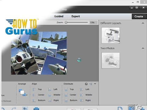 How to use the Photoshop Elements Collage Tool - Adobe Photoshop Elements 11 12 13 14 15 tutorial