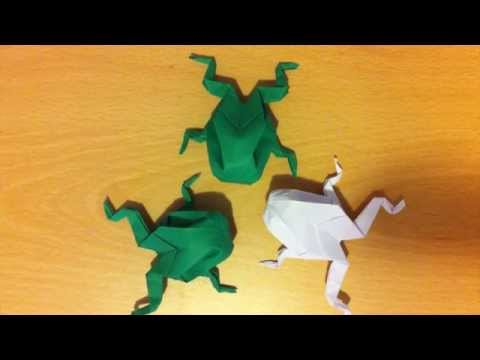 Origami Frog - step by step instructions