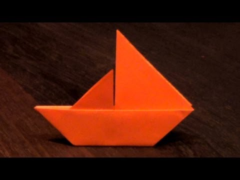 Origami Sail Boat Tutorial - How to make an Origami Sail Boat