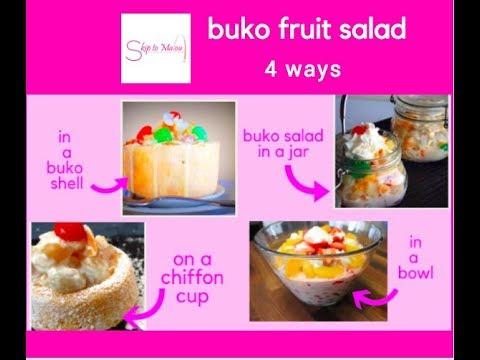 how to make buko fruit salad 4 ways