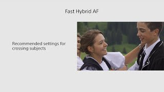 Sony | Handycam® | FDR-AX700 Fast Hybrid AF Tutorial - crossing subjects - 4K HDR(HLG)