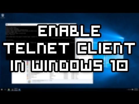 How to enable the Telnet Client in Windows 10