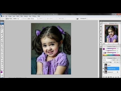 Cartoon Effect in Photoshop cs3.flv