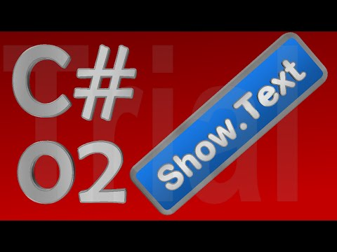 C# Tutorial 02 - Displaying Text Box Value in Message Box - for Beginners