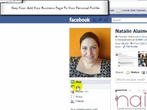 How to Link Your Personal Facebook Profile To Your Business Page - Free Facebook Training Video