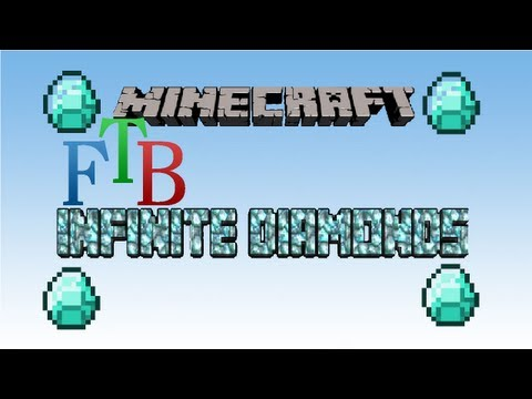 Minecraft FTB - How to get Infinite Diamonds without much resources!