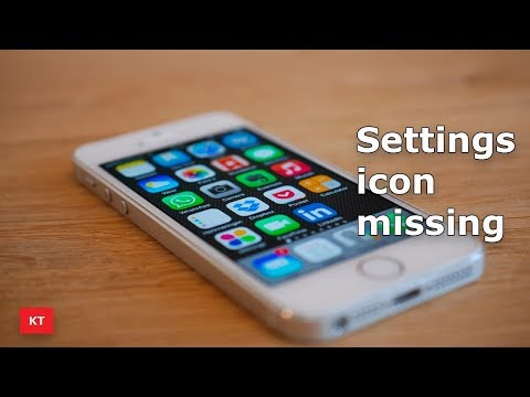 Settings icon missing from the home screen of your iPhone
