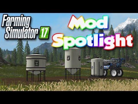 Farming Simulator 17 Mod Spotlight #1 | Placeable Refill Tanks | Seeds And Fertilizer | FS17 Mods