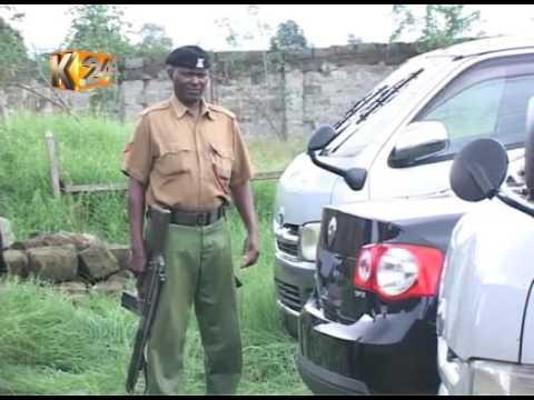 Police recover 3 vehicles dumped at an abandoned yard in Naivasha